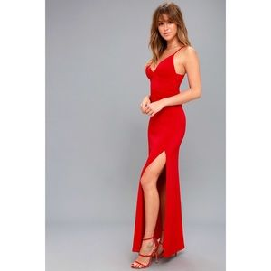 LIMOUSINE QUEEN RED MAXI DRESS NWT